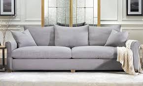 linen slipcovered sofa leo linen blend sofa in smoke the dump america u0027s furniture outlet