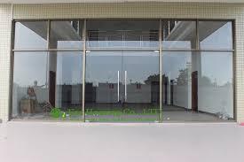 Glass Exterior Door China Manufacturer Commercial Exterior Commercial Frameless Glass