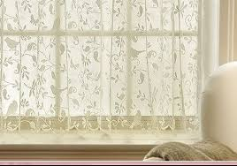 gorgeous birds lace curtain 24 tier panel kitchen bathroom