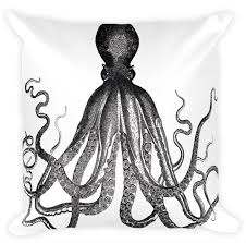 octopus decor aloha octopus throw pillow 18x18 hawaii throw pillow made in
