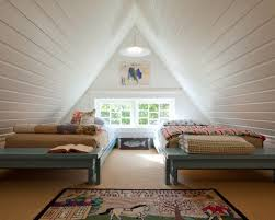 even the attic has been opened up once an unfinished space full