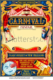 clown show for birthday party circus juggler show retro template stock illustration