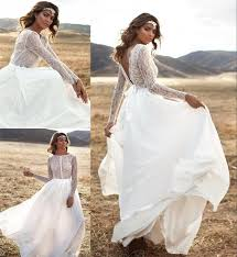 dress boho wedding dresses beach wedding dress backless wedding