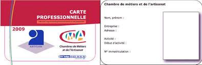 carte chambre des metiers carte d artisan cma41 fr