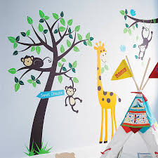 Monkey Nursery Decals Animals And Tree Wall Sticker By Parkins Interiors