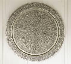 decorative metal disc silver pottery barn