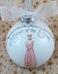 custom glass ornaments painted with illustration of dresses