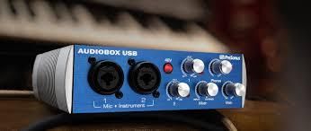 audiobox usb features presonus audio equipment pinterest