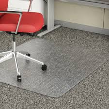 Decorative Vinyl Floor Mats by Lorell 02158 Rectangular Low Pile Economy Chairmat Carpeted Floor