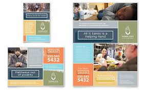 marketing a homeless shelter with professional graphic designs