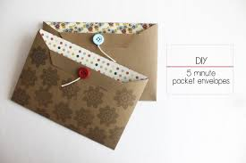 pocket envelopes diy 5 minute pocket envelopes