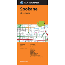 Map Of Spokane Folded Map Spokane Washington Street