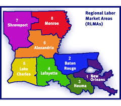 louisiana map areas local workforce development area regional local plans louisiana