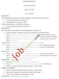 Microsoft Word Job Resume Template Sample Of Resume For A Job Resume For Your Job Application