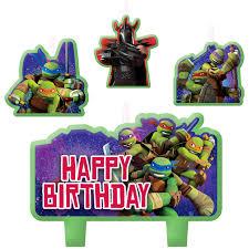 teenage mutant ninja turtles teenage mutant ninja turtles birthday candles birthdayexpress com