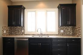 Backsplash For Kitchen Walls Glass Tile Backsplash Returns On Each Surrounding Wall For A