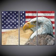 eagle home decor eagle and american flag canvas wall painting for home decoration