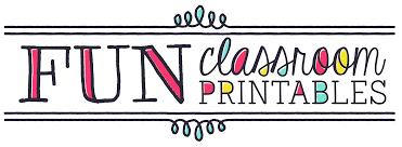 home fun classroom printables