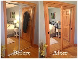 Mirrored Bifold Doors For Closets Updating Mirrored Closet Doors Pilotproject Org
