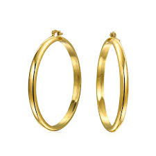 earrings hoops polished gold filled half hoop earrings 2 5 inch