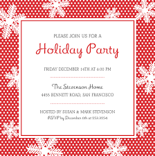 great christmas party invitation ideas with white flowers cards