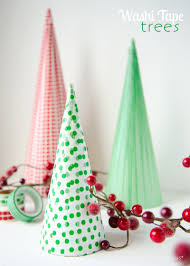Easy Home Made Christmas Decorations by Craftaholics Anonymous Washi Tape Christmas Trees