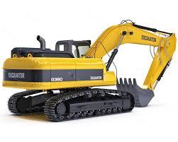 c4d hydraulic excavator names 3d models pinterest hydraulic