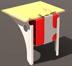 simple wall mounted standing desk u0026 pc tower bracket u2013 designer rants