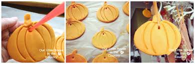 cornstarch cornflour dough pumpkin hanging decorations our
