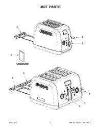 Kitchenaid Toaster Oven Parts List Parts For Kitchenaid Kmt422cu0 Toaster Appliancepartspros Com