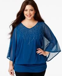 blouse plus size alfani plus size sleeve embellished chiffon blouse only at