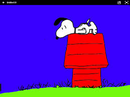 snoopy on his dog house image format just inside the box