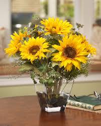 sunflower arrangements essence of summer with silk sunflower arrangements at