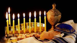 wooden menorah hanukkah with menorah traditional candelabra