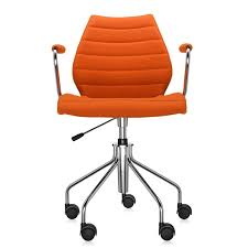 Desk Chair With Wheels Maui Soft Armchair With Wheels And Pump Trevira Fabric U0026 Reviews