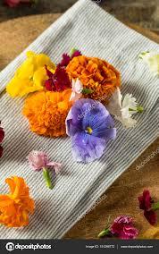 organic edible flowers organic edible flowers stock photo bhofack2 151288772