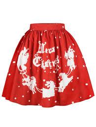 christmas skirt 2018 christmas polka dot sled print skirt s in skirts online