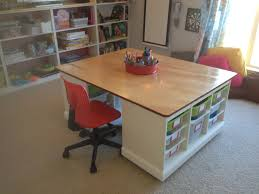 playroom table with storage finished kids craft board game table in the kids playroom