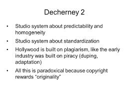 Studio System Decherney 2 Studio System About Predictability And Homogeneity