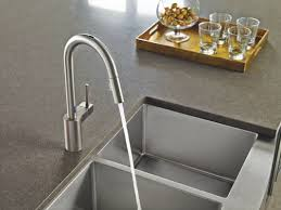 One Touch Kitchen Faucet Faucet Com 7565ec In Chrome By Moen