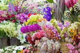 plastic flowers artificial flowers market stock photo colourbox