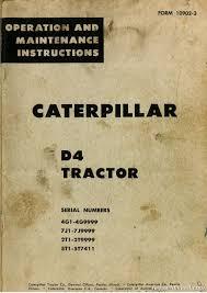 d4 tractor operators manual