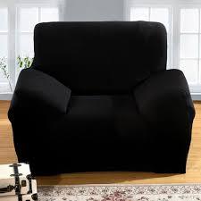 housse canapé noir hicollie 1 noir housse canapé spandex polyester lycra 1 place sofa