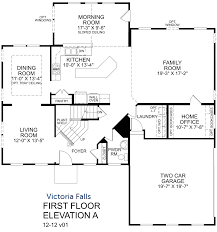 victoria falls first floor with selected options ryan homes floor