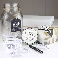 wedding wishes jar 40th and 50th birthday wish jars by nest notonthehighstreet