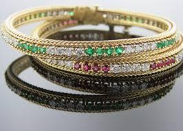 make diamond bracelet images Emerald diamond ruby diamond bracelets set of 2 andrew jpg