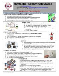 California Home Inspection Checklist by Home Inspection List Builtin Appliance Home Inspection Checklist