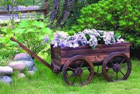 Easy Diy Garden Decorations Flower Cart Ideas U2013 A Charming Element Of The Garden Decoration