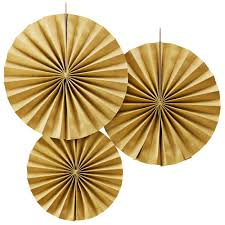 pastel perfection gold fan decorations
