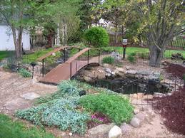 yard bridge backyard bridge